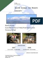 Innovative Water Scheme for Remote Nepalese Community