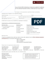 Texas a&M Document ID Sheet