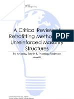A critical review of retrofitting methods for unreinforced masonry structures