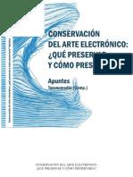 Conservacion Del Arte Electronico