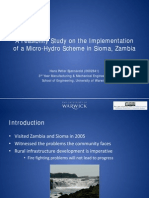 A Feasibility Study on the Implementation of a Micro-Hydro Scheme in Sioma, Zambia
