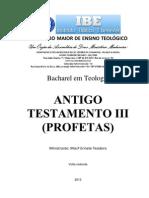 Apostila Antigo Testamento III Profetas Ibe