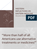 Western Reflections on Eastern Medicine