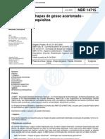 NBR 14715 - Chapas de gesso acartonado - Requisitos.pdf