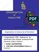 Organisation de La Prevention Hse