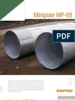 Cintac Infraestructura Vial Ficha Miniplate MP68