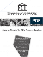 Guide to Choosing the Right Business Structure