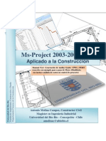 Manual Microsoft Project 2003-2007-2010 Manual Aplicado a La Construccion