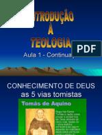 Introducao a Teologia Aula 1 - Continuação
