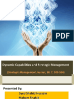 Final Dynamic Capabilities and Strategic Management