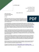 3-26-13 Ltr to Senator Feinstein Regarding Gun Control