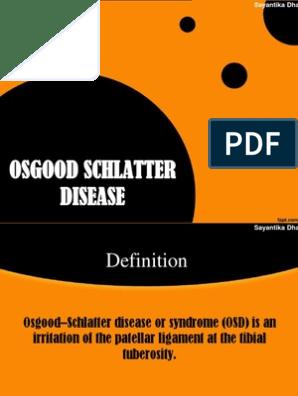 Osgood Schlatter Disease | Musculoskeletal System