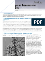 Transmission Measurement Notes