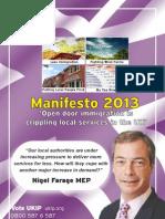 UKIP Local Elctions Manifesto 2013