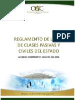 Reglamento de La Ley de Clases Pasivas y Civiles Del Estado