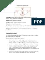 Lenguaje y Comunicación I Lengua Castellana