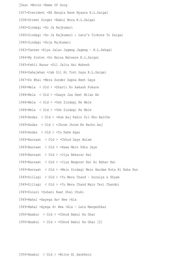 Hindi Film Songs