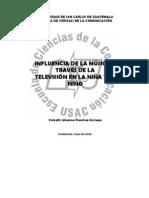 Influencia de la Musica a traves de la TV en los niños