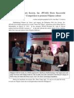 Philippine Folk Arts Society (PFASI) Hosts Pinoy Got Talent 2013
