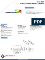 SD-281 | Caltron 28 Inch Stretch LCD Digital Signage Monitor