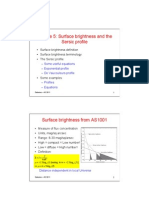 Surface Brightness Lecture
