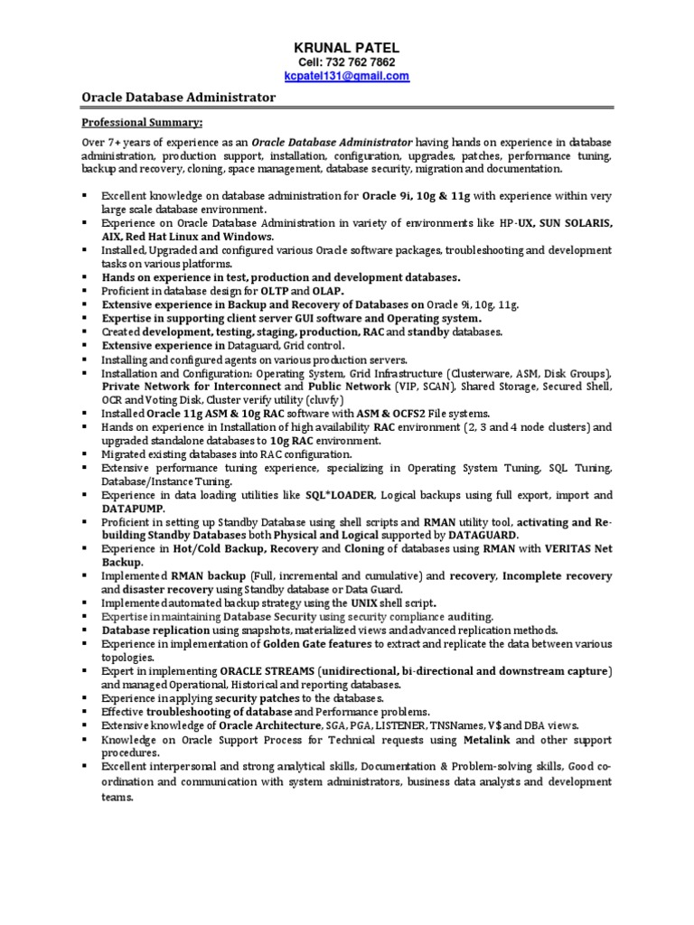 sample resume for network administrator resume database developer