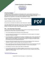 ScrumMaster Checklist