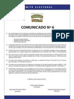 Comunicado 6