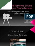 Ley Del Fomento Al Cine en El DF
