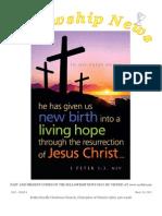 March 26, 2013 Fellowship News
