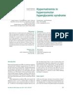 Hipernatremia en Sx Hiperosmolar