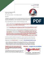Letter to Rex Tillerson 13-03-27
