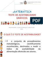 Alimentação Escolar - Gráficos teste de aceitabilidade