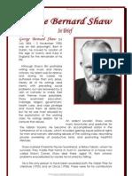 George Bernard Shaw Biograpy by Donnette E Davis