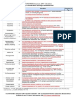 CONSORT 2001 Checklist