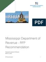 DFA Recommendation Executive Summary