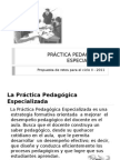 dapositiva sobre la práctica pedagógica