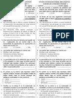 Examen Lenguaje Unidad 1 Cuarto