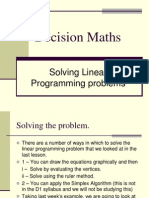 D1,L9 Solving Linear Programming Problems