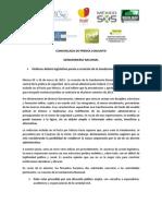Comunicado Conjunto Gendarmeria