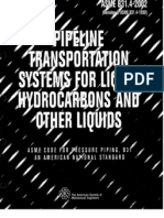 ASME B31.4 Pipeline Transportation Systems for Liquid Hydrocarbons and Other Liquids [2002]