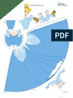 Cinderella Papercraft Printable 0210