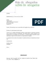 Carta, do Circular Nuevo Ejemplo