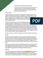 Oregon Bennis Organisational Wellness Survey_2012 Executive Summary