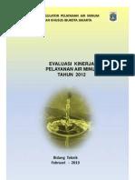 Evaluasi Kinerja Pelayanan Air Minum 2012