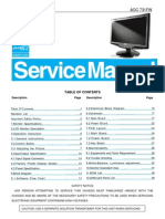 AOC TFT-LCD Color Monitor 731FW Service Manual