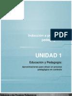 1. Unidad 1 Educacion y Pedagogia