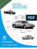 2001 Oldsmobile Aurora 2000 Pontiac Bonneville 2000 Buick Lesabre Collision Repair Manual