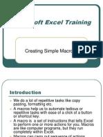 Excel Macro Training