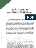 A NOÇÃO DE FRONTEIRA E ESPAÇO NO PENSAMENTO SOCIAL BRASILEIRO